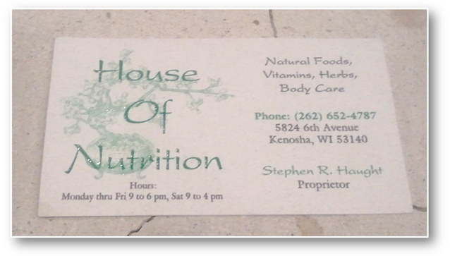 """Coming soon to """"House of Nutrition"""" in"""